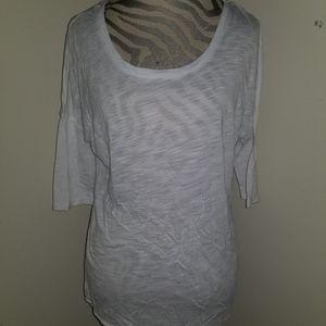 Really cute Ultra flirt white top! Size L!